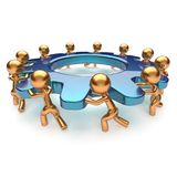 Teamwork community power business process icon concept Royalty Free Stock Photography