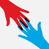 Teamwork, Community, Social Design Flat Concept.  Stock Image