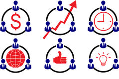 Teamwork Company. Business Businessman Workforce Teamwork Company Royalty Free Stock Photos