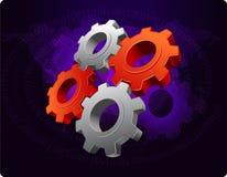Teamwork concept. Multiple gears interlocked to each other. teamwork concept vector illustration