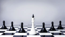 Teamwork concept. In chess, providing leadership and association Royalty Free Stock Photography