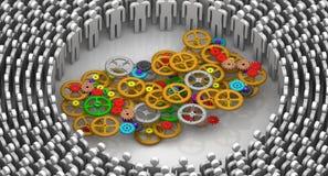 teamwork Concept Images libres de droits