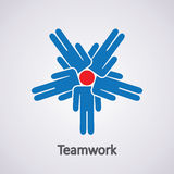 Teamwork concept, vector  Royalty Free Stock Image