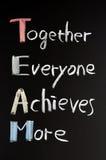 Teamwork concept on blackboard Royalty Free Stock Image