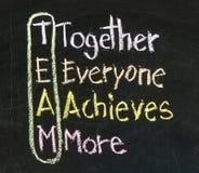 Teamwork concept on blackboard Stock Images