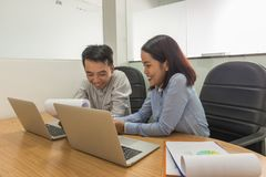 Teamwork concept, business team working together in the meeting room royalty free stock photography
