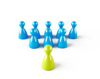 Teamwork concept. Chess pawn in leadership concept Royalty Free Stock Images