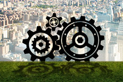 The teamwork concept with cogwheels gears 3d rendering. Teamwork concept with cogwheels gears 3d rendering Stock Images