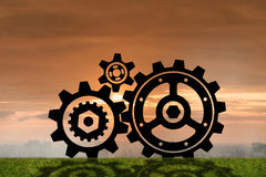 The teamwork concept with cogwheels gears 3d rendering. Teamwork concept with cogwheels gears 3d rendering Royalty Free Stock Photography