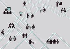 Teamwork concept royalty free illustration