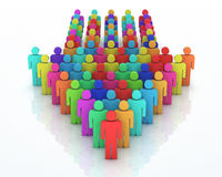 Teamwork concept. 3d render Teamwork colorful concept (close-up Royalty Free Stock Photography