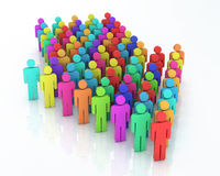 Teamwork concept. 3d render Teamwork colorful concept (close-up Stock Photography
