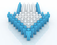 Teamwork concept. 3d render Teamwork front concept (close-up Royalty Free Stock Photo