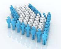 Teamwork concept. 3d render Teamwork perspective concept (close-up Stock Photo