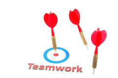 Teamwork concept with dart arrow Stock Photography