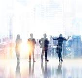 Teamwork concept double exposure royalty free stock photo