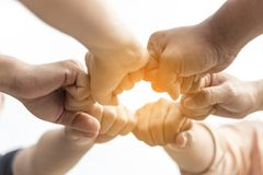Teamwork concept. friendship business group with hands together. Business Teamwork Concept Royalty Free Stock Images