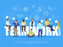 Teamwork Concept Illustration Royalty Free Stock Image