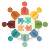 Teamwork concept infographic Stock Photo