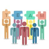 Teamwork concept infographic Stock Images