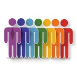 Teamwork concept infographic Royalty Free Stock Photo