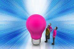 Teamwork concept with light bulb Royalty Free Stock Photos