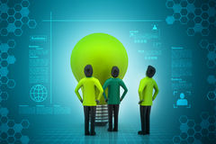 Teamwork concept with light bulb Royalty Free Stock Image