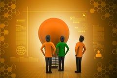 Teamwork concept with light bulb Stock Photo