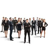 Teamwork. Concept of partnership and teamwork with businesspeople Royalty Free Stock Photo
