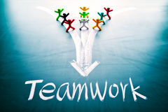 Teamwork concept, people with the same goal Royalty Free Stock Photo