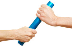 Teamwork concept with relay baton Stock Image