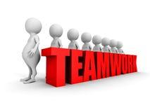 Teamwork concept with success 3d people team. 3d render illustration Stock Photos