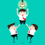 Teamwork concept. Vector Illustration Stock Photos