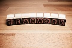 Teamwork concept view stock images