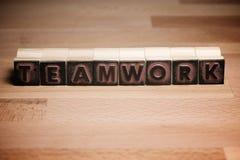 Teamwork concept view stock photos