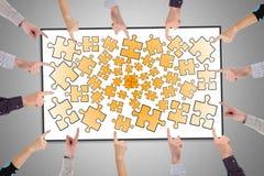 Teamwork concept on a whiteboard Stock Photo