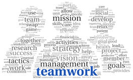 Teamwork concept in word tag cloud Royalty Free Stock Photography