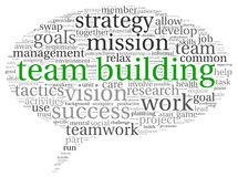 Teamwork concept in word tag cloud Royalty Free Stock Photos
