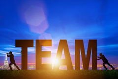The teamwork concept with the word team Royalty Free Stock Photos