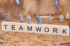 Teamwork conceptual photo Royalty Free Stock Photos