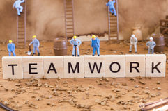 Teamwork conceptual photo Stock Photo