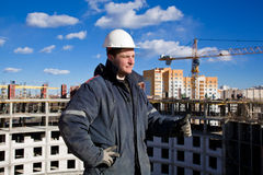 Teamwork in Construction Royalty Free Stock Photography
