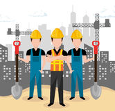 Teamwork construction on site Royalty Free Stock Photography
