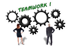 Teamwork and contribution concept Royalty Free Stock Image