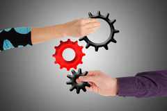 Teamwork and contribution concept Stock Photography