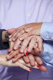 Teamwork cooperation Royalty Free Stock Image
