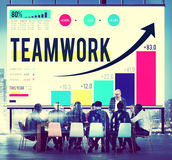 Teamwork Corporate Collaboration Connection Partnership Concept Stock Images