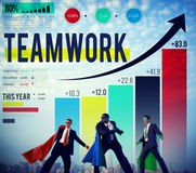 Teamwork Corporate Collaboration Connection Partnership Concept. Business People Teamwork Partners Concept royalty free stock photos