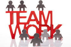 Teamwork and corporate profit Stock Images