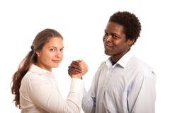Teamwork couple Royalty Free Stock Photos